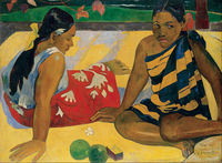 Parau Api. What News by Paul Gauguin oil Painting Canvas High quality hand painted Art Reproduction