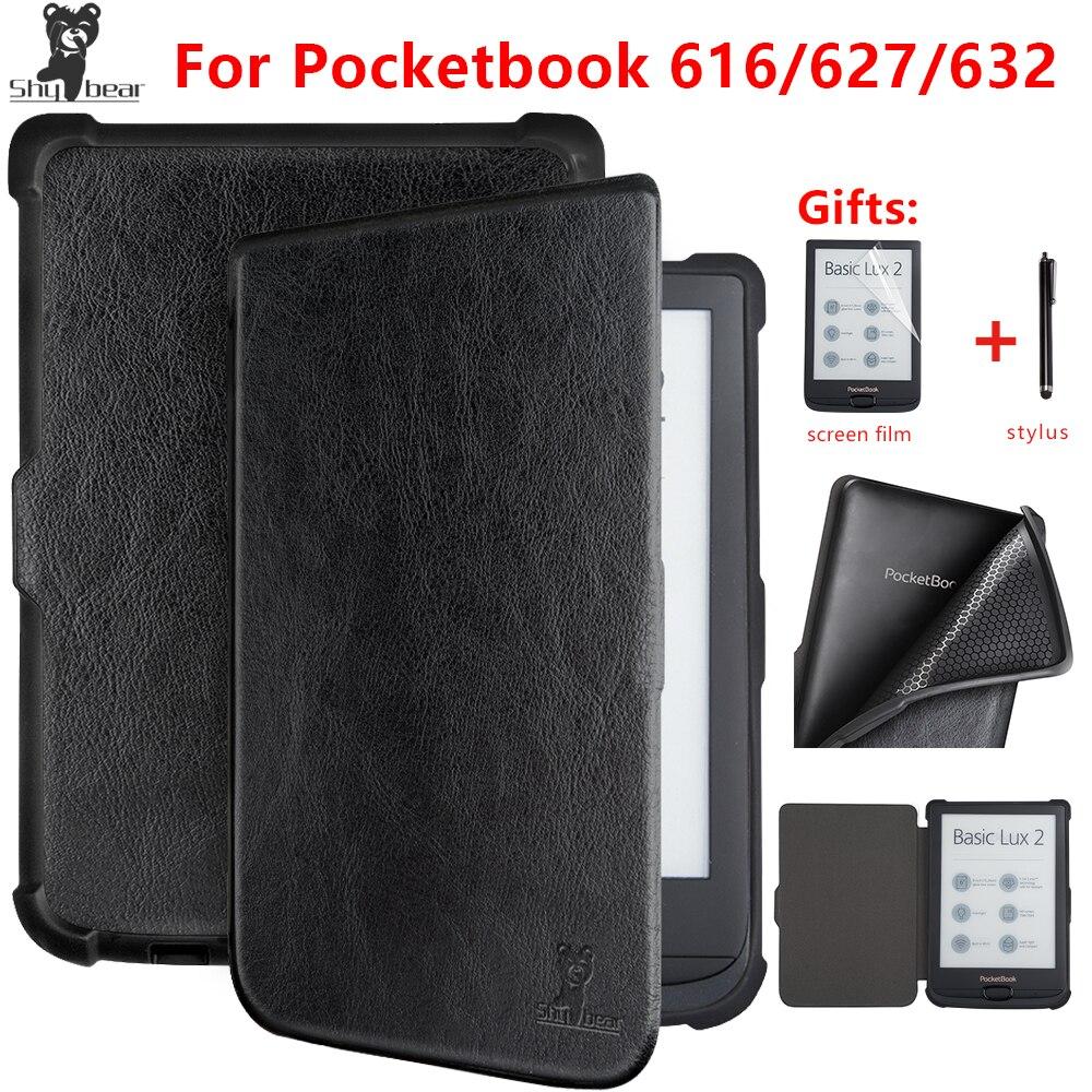 Étui de luxe ours timide pour livre de poche 616/627/632 Touch Lux4 Ereader étui pour livre de poche Basic Lux 2/touch HD 3 Ebook + cadeau