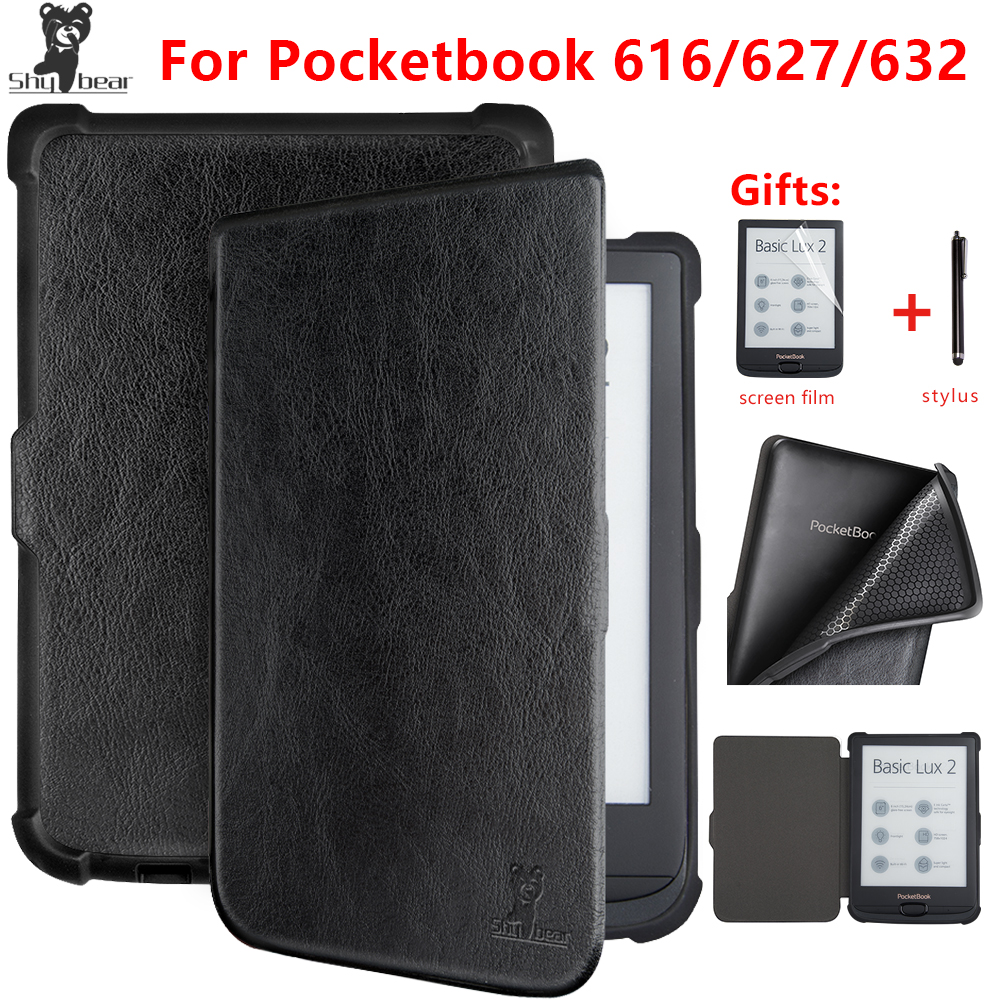 Shy Bear Luxury Case for Pocketbook 616/627/632 Touch Lux4 Ereader Book Case for Pocketbook Basic Lux 2/touch HD 3 Ebook +gift leaf village naruto headband