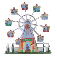 Vintage Musical Ferris Wheel Model Wind up Clockwork Tin Toys Collection Gifts