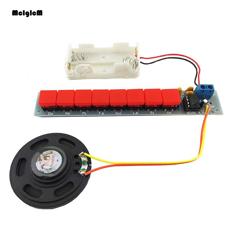B0078 NE555 רכיב אלקטרוני איברים פסנתר חשמלי חלקי ערכת DIY מודול DIY סט w/תיבת סוללה אלקטרוני DIY ערכות