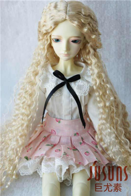 JD220 1/4 MSD Fashion BJD synthetic mohair doll wigs  7-8 inch Long curly doll wig 1 3 1 4 bjd wigs hot sell bjd sd short curly wig for diy dollfie mohair like