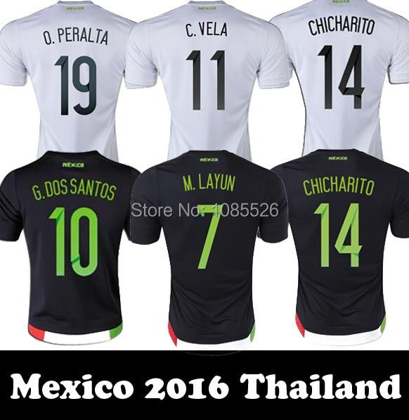 d927dfcb40d23 CHICHARITO 2015 16 Mexico jerseys soccer jersey camisetas de futbol mexico  2016 football jerseys J HERNANDEZ futbol shirts