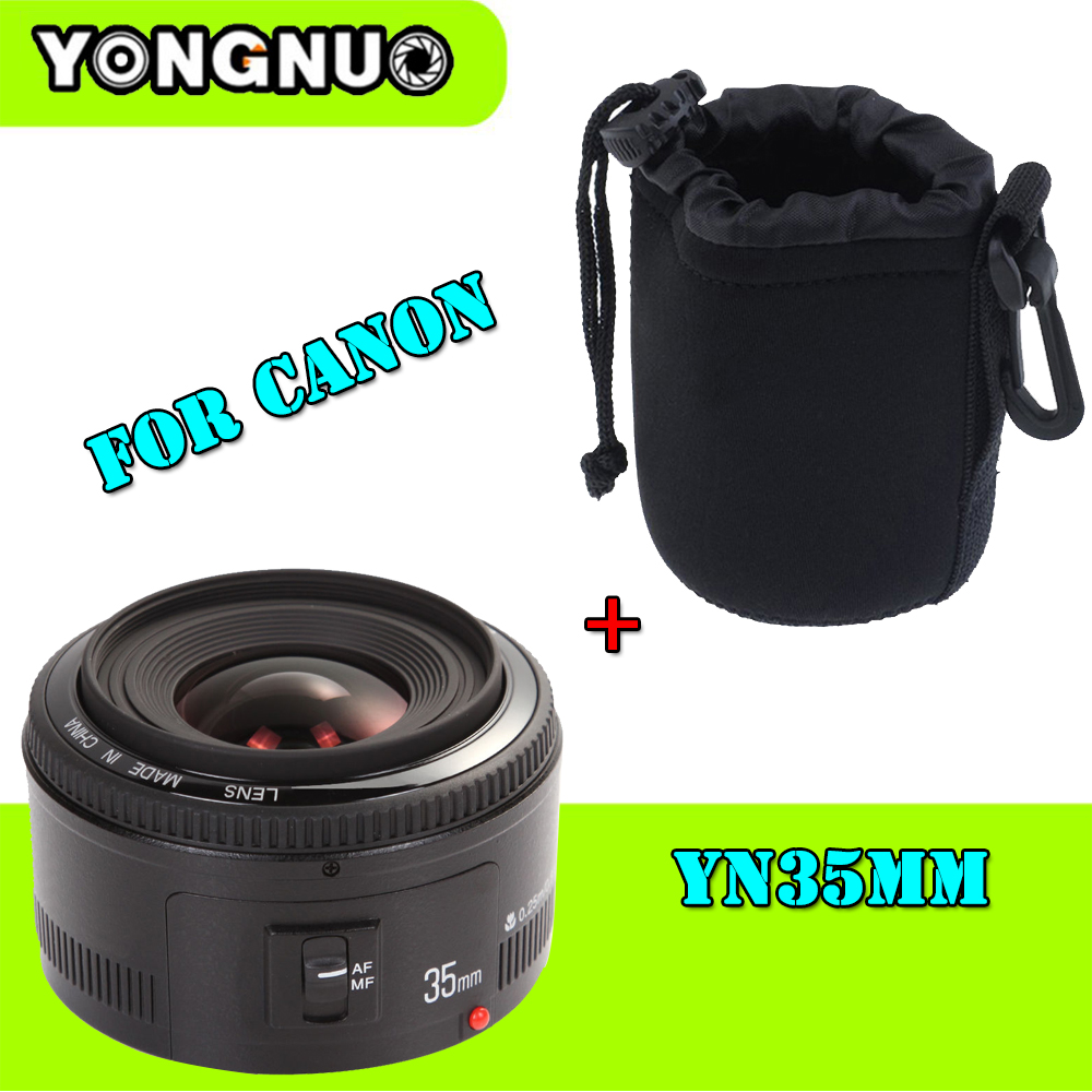 YONGNUO YN 35mm Camera Lens F2 Lens 1:2 AF / MF Wide-Angle Fixed / Prime Auto Focus Lens for Canon EOS 5D Mark III 450D 60D 7DII yongnuo yn35mm f2 1 2 af mf wide angle aperture fixed prime auto focus lens for nikon d7100 d3200 d3300 d3100 d5100 d90 dslr