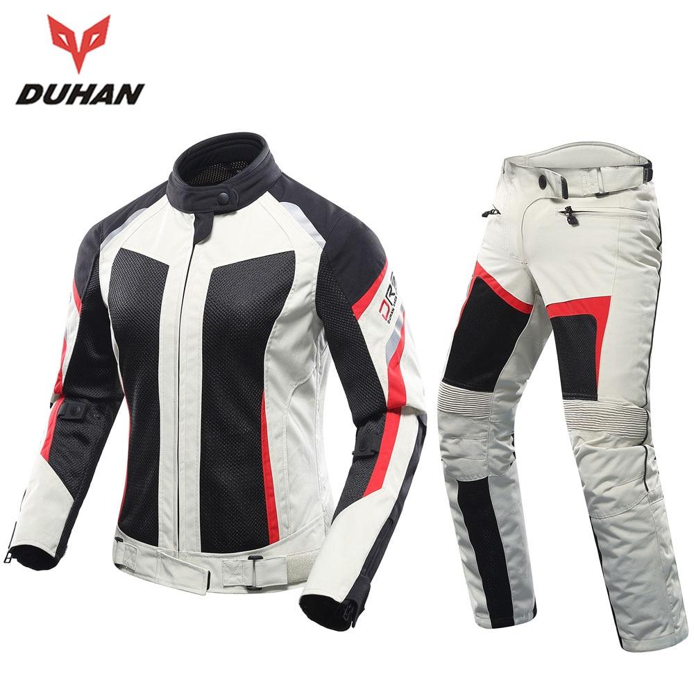 DUHAN Women Motorcycle Jacket And Motorcycle Pants Set Breathable Mesh Motorbike Jacket Moto Jackets Motorcycle Clothing