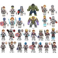 Building Blocks Super Heroes Avengers 4 End Game Space Suit Figures Bricks For Children Toys Gift KF6076 X0233 X0251 XH1052 1053