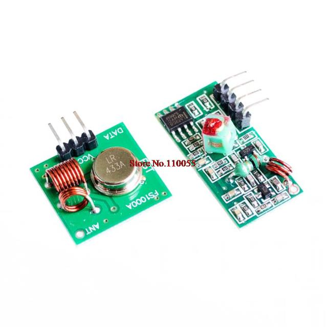 RF wireless receiver module & transmitter module board Ordinary super- regeneration 315/433MHZ DC5V (ASK /OOK) for