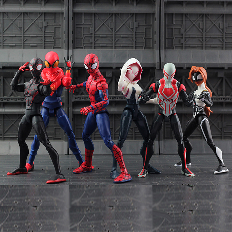 7 Type Movie SpiderMan Homecoming Gwen Stacy Spider Woman Spider Man Action Figure Model Doll Christmas Gift new hot 15cm avengers spiderman super hero spider man homecoming action figure toys doll collection christmas gift with box