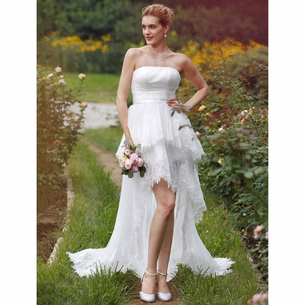 Asymmetrical Wedding Gown: LAN TING BRIDE Ball Gown Wedding Dress Strapless