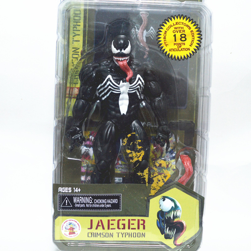 NECA Marvel Legends Venom PVC Action Figure Collectible Model Toy 7 18cm KT3137 fire toy marvel deadpool pvc action figure collectible model toy 10 27cm mvfg363