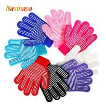 Nasinaya, перчатки для фигурного катания для детей, девочек, взрослых, волшебные вязаные варежки, эластичные, теплые, флисовые, для катания на льду, для защиты от снега, для рук, 2