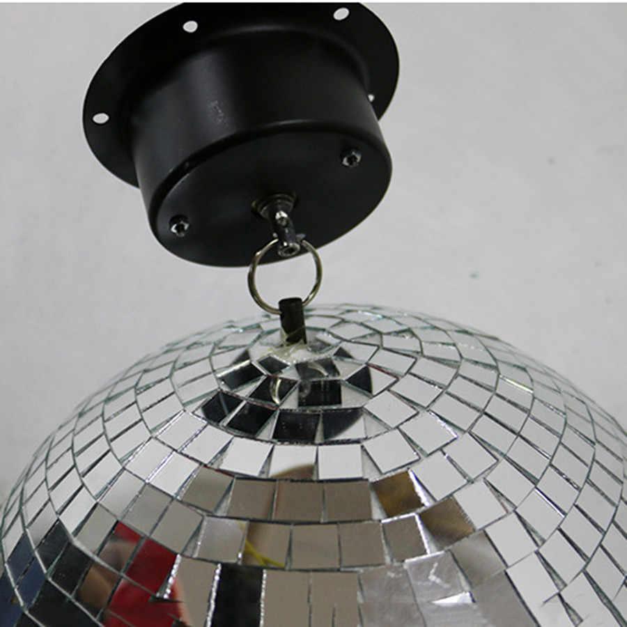 BEIAIDI 1.5 RPM di Vetro Specchio Rotante Della Sfera Della Discoteca Appeso Motore DJ Riflessione A Specchio Sfera di Illuminazione Per Il Natale Nuovo Anno Decorazione