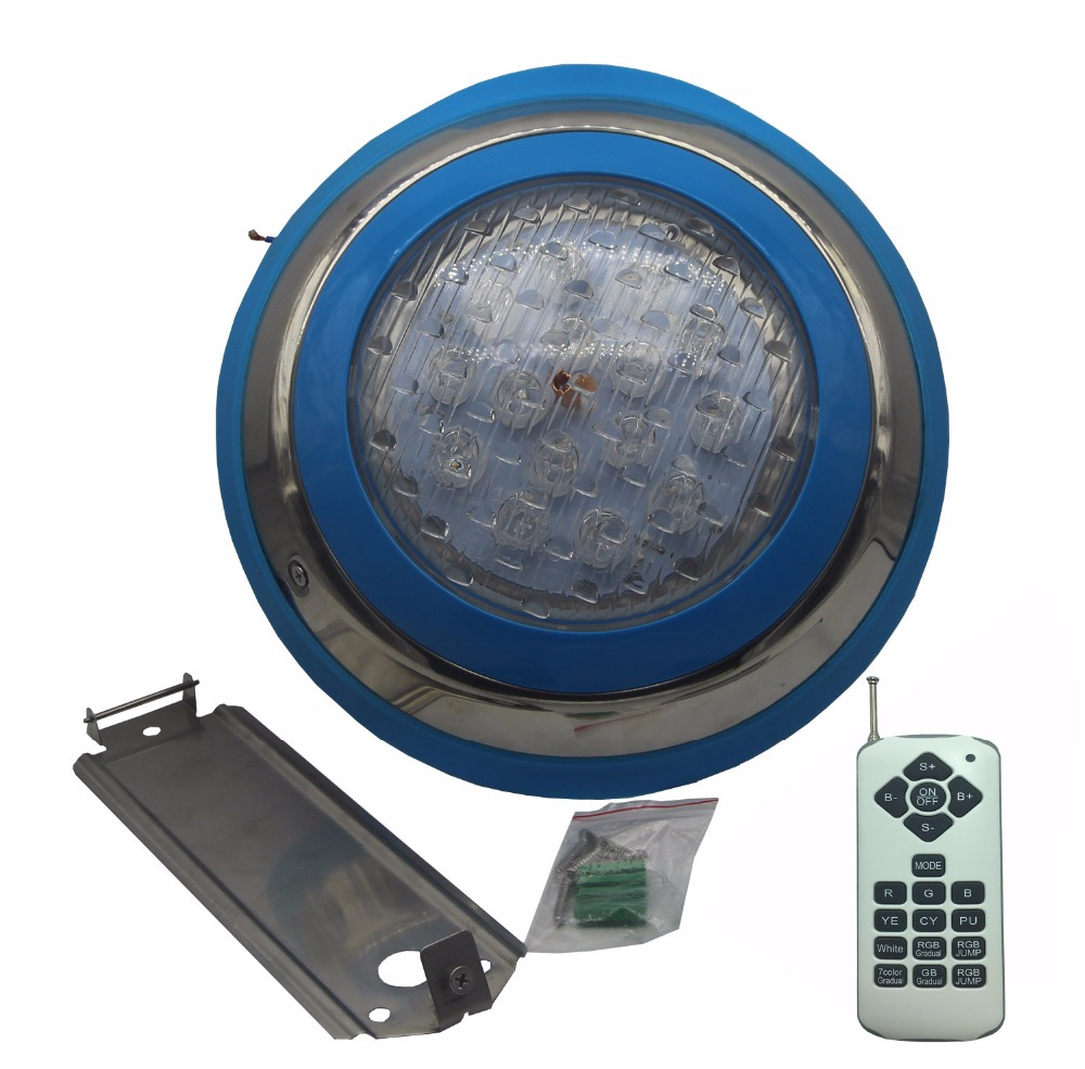 LED Pool Light 12V AC Underwater Lamp IP 68 Water proof Pond Lighting RGB Multiple Color 36W 45W 54W warm white cold white