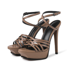 Sexy platform high heeled sandals Women 2019 spring summer ankle strap heels pumps Chic party shoes BY669