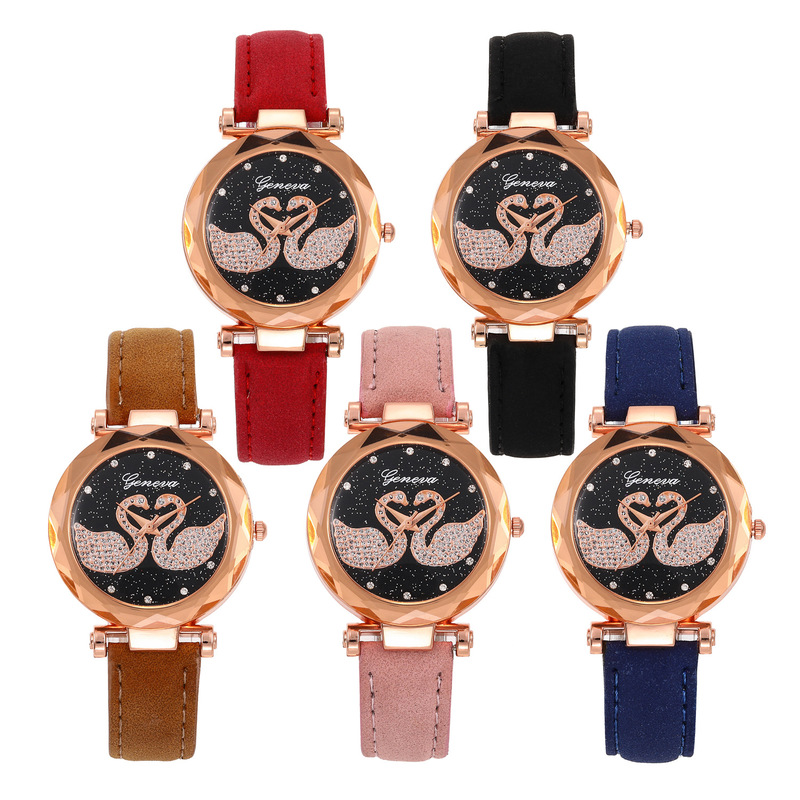 Han Edition Contracted The New Fashion Leisure Atmosphere Cuhk Child Star Students Watch Watch Web Celebrity Yuanyang Pattern