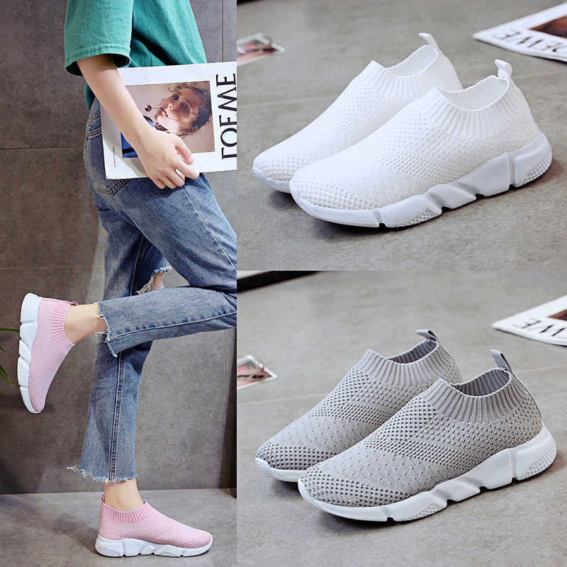 b7df8dd658 Weweya 2019 New Sock Sneakers Women Light Cheap Running Shoes Breathable  Female Pink Sport Athletic Shoes zapatillas Size 35-43