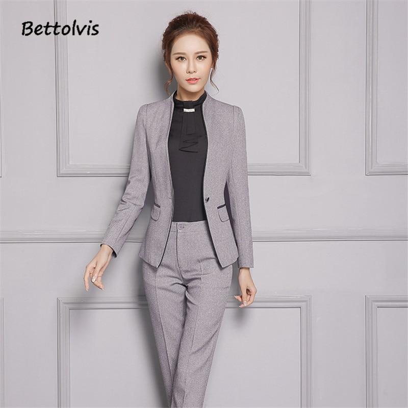 2018 Efterår kvindelige elegante bukser til kvinder Kvinder sæt - Dametøj - Foto 2