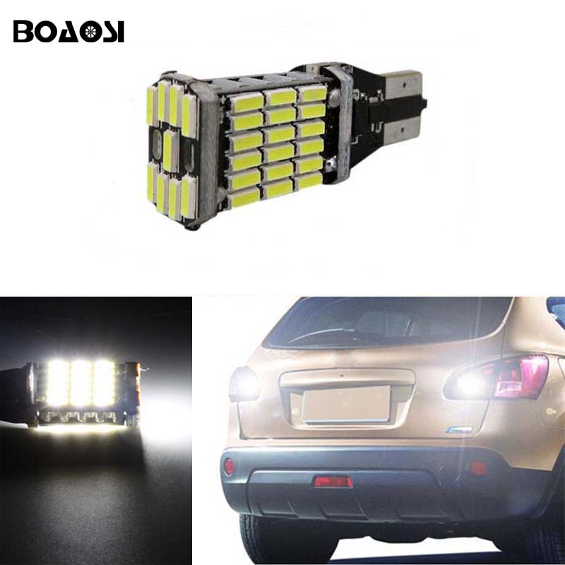 BOAOSI 1x Canbus Error Free T15 W16W 921 Car LED Lights Backup Reverse Tail Bulb for Nissan Juke 2011-2015 2 x error free super bright white led bulbs for backup reverse light 921 912 t15 w16w for peugeot 408