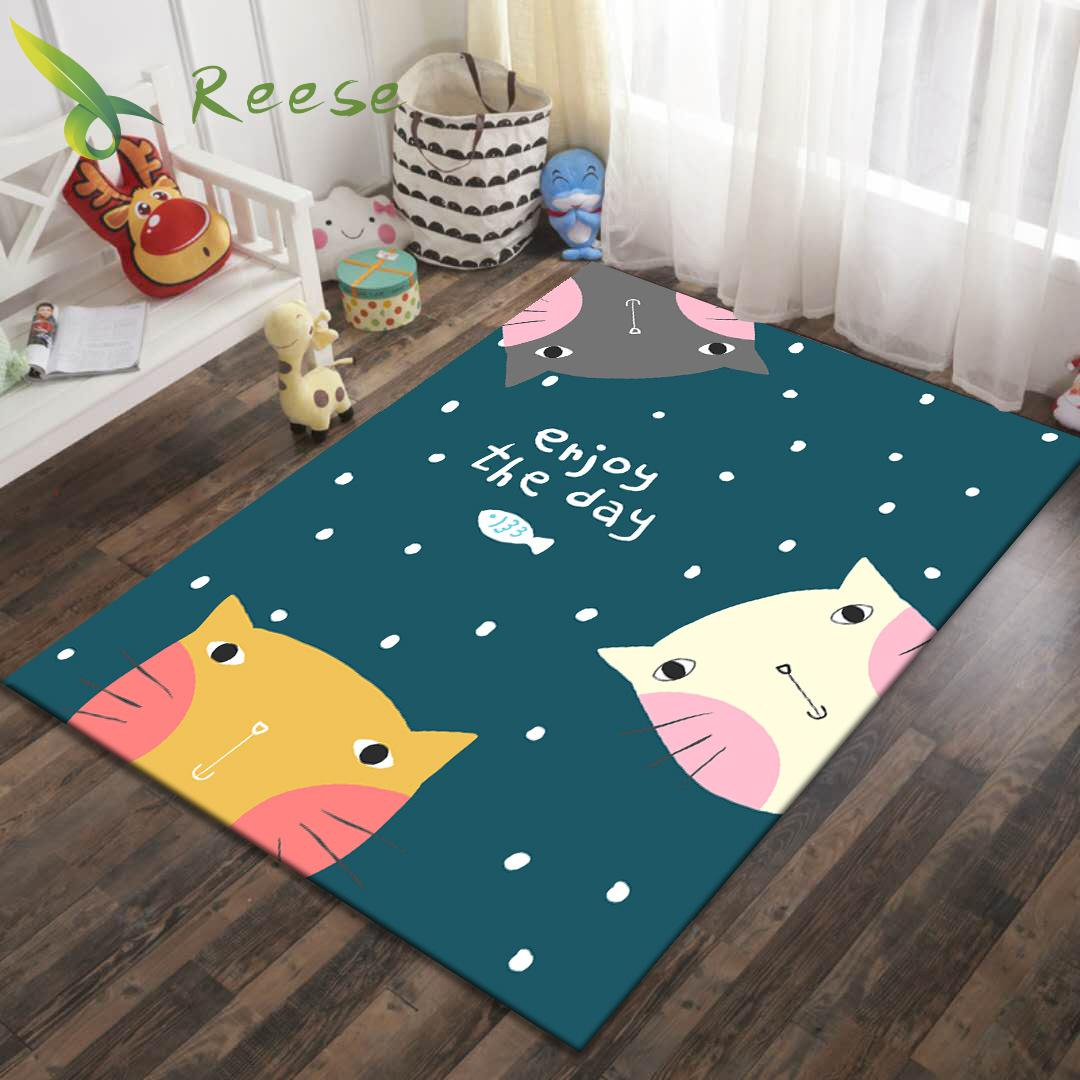 Alibaba Hot Sale Modern Art Soft Cartoon Crocodile Puppy Kids Carpet Rug For Children's Room Non-slip Antifouling Factory Supply