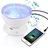 JiaderuiOcean Wave Starry Sky Aurora LED Night Light Projector Luminaria Novelty Lamp USB Lamp Nightlight Illusion
