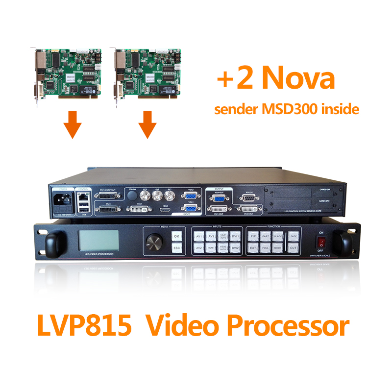 large led sign video wall 3 av channel video processor lvp815s for led grand stage display screen with two nova msd300 wavelets processor