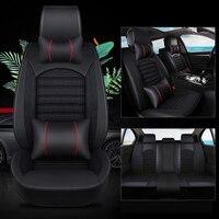 kalaisike Leather plus Flax Universal Car Seat covers for BMW all models 520 525 320 e36 e46 f10 f20 x1 x3 x5 x6 x4 f11 E83 e90