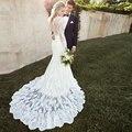 2016 New Hot Selling Custom Made Wedding Dresses Vestido de Noiva Casamento Robe De Mariage Applique Lace Bridal Dress
