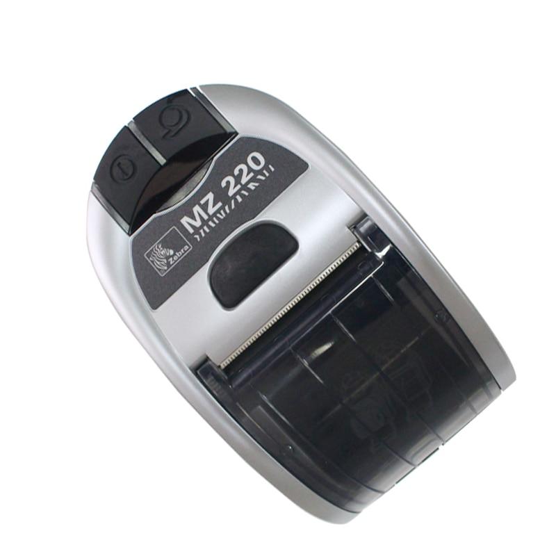 Original Zebra MZ220 Portable Android Mini mobile Thermal Printer Mini Label Bluetooth Thermal Receipt Printer seebz 2set original printer for zebra mz220 wireless bluetooth mobile thermal printer for 50mm ticket or label portable printer