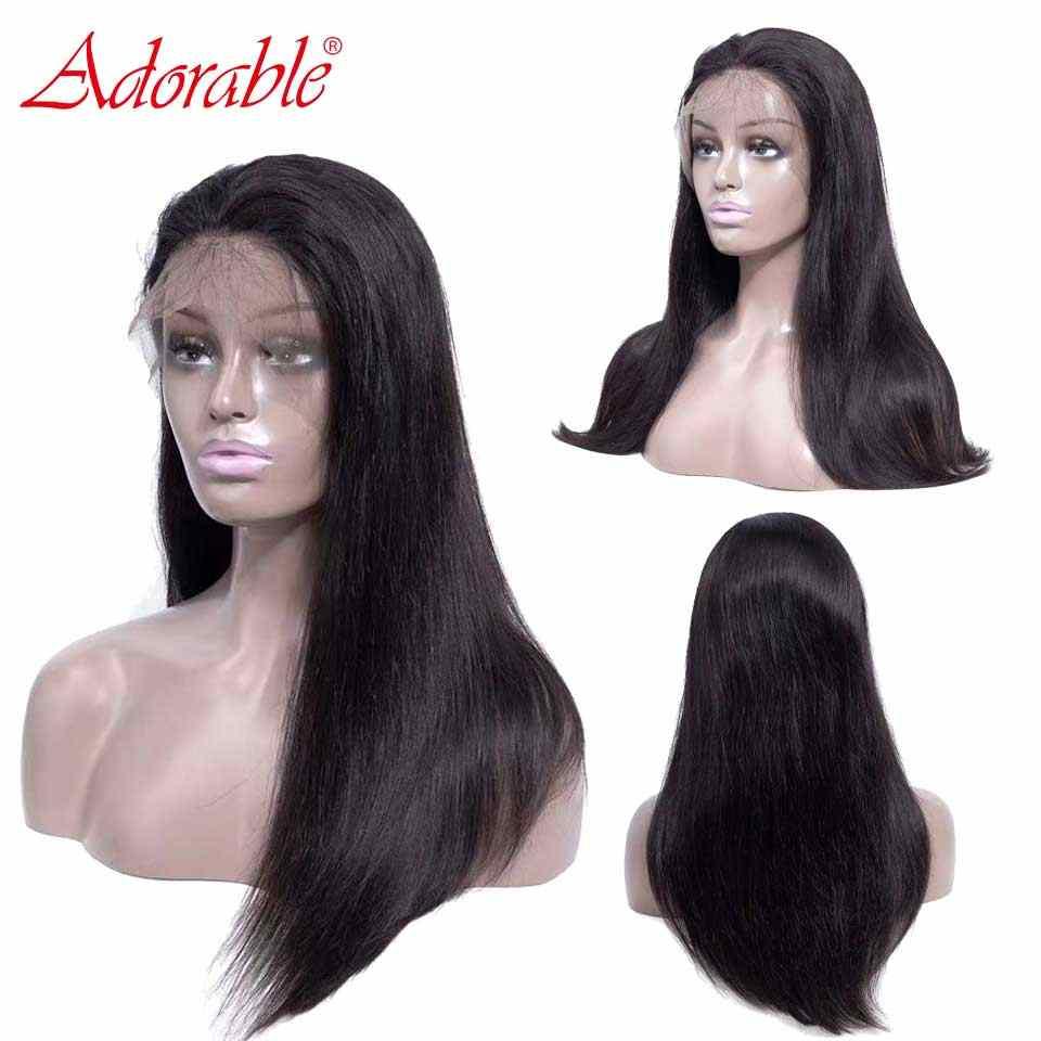 Длинные прямые 13*4 парики шнурка спереди предварительно сорвал малазийский парик прямые парики шнурка спереди al с волосами младенца человеческих волос