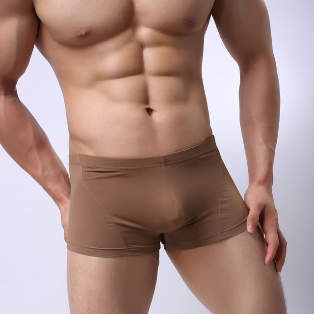 men's boxer shorts mens panties viscose fashion low-waist boxer shorts men underwear mens sexy boxer