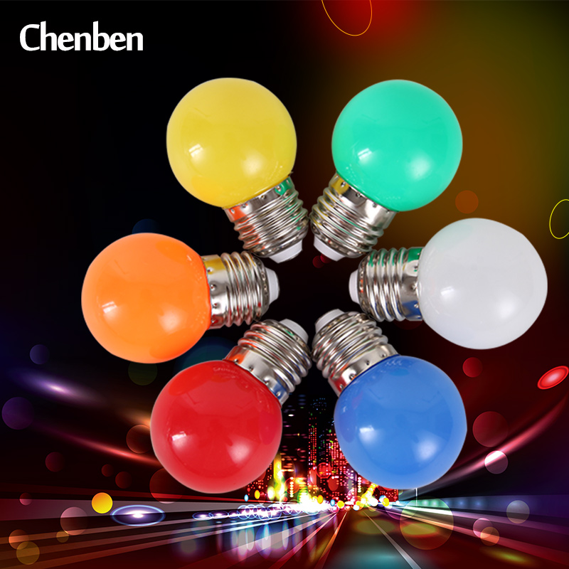 Colorful Bulb Light Led Bulb E27 Lamp Mutil Color Light Bulb White Green Blue Red Yellow Orange Pink Home Decorations Party Bar