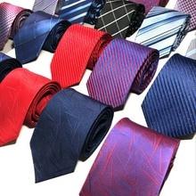 Classic Polyester Silk Ties For Men Luxury Business Tie 8cm Group Professional Wear Jacquard Tie Men Tie Boutique  Gravatas цена