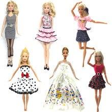 c73e90557781b NK 6 takım/grup Sıcak Satış Bebek Kıyafetler Üst Moda Elbise parti giysileri  Için barbie bebek bebek oyuncakları En Iyi Kızların.