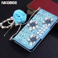 NKOBEE For Samsung Galaxy S8 Case Luxury For Women Coque For Samsung S8 Plus Case Flower