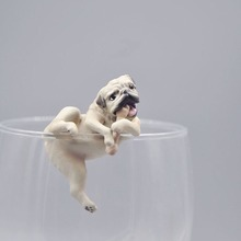 2018 Prank toy funny gadgets cool speelgoed action figure Japanese Cup Edge Teasing Tea Resin puppet Animal Model Honden pop Ornament