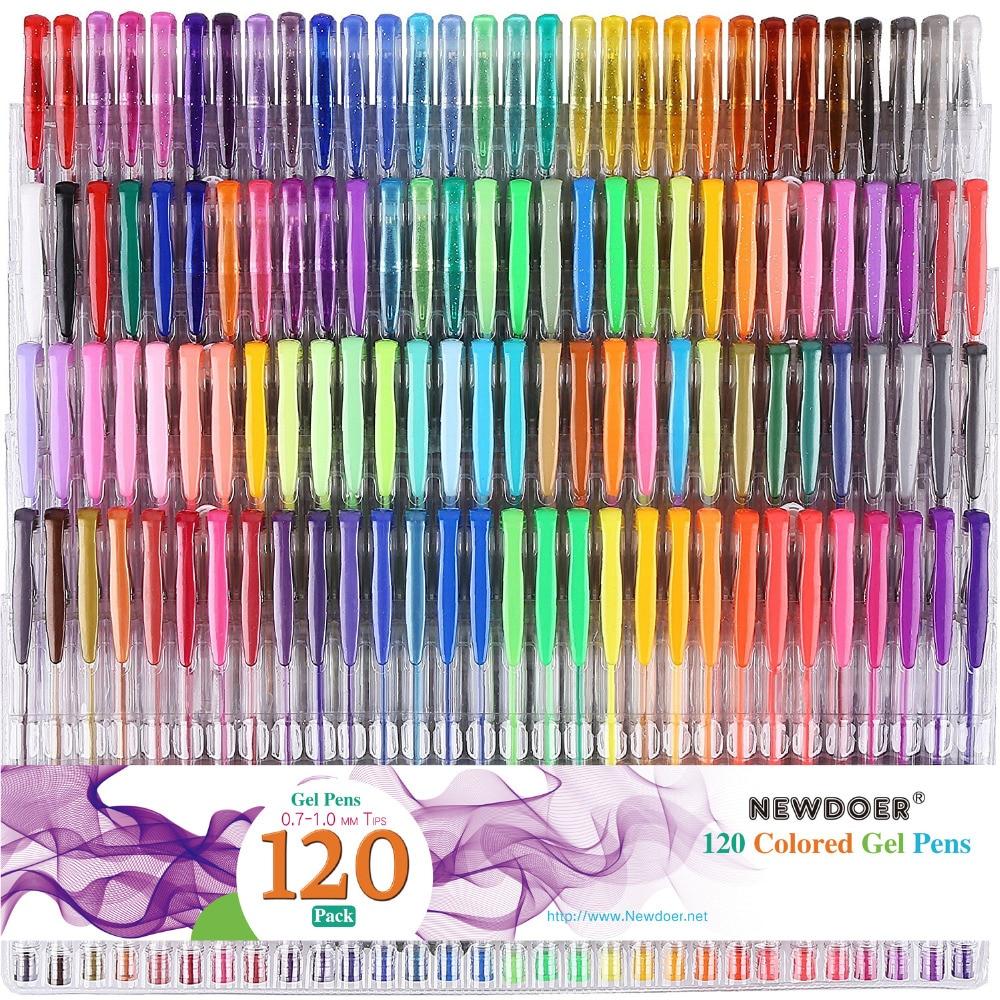 Smart 60 Gel Pens Set Color Gel Pens Glitter Metallic Pens Good Gift For Coloring Kids