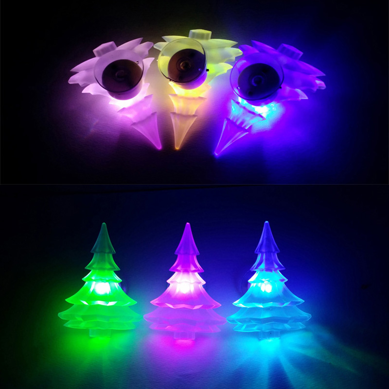 5PCS Christmas Tree Design LED Light Color Glow Change Suction Christmas Holiday Decorating Night light Gift For Children