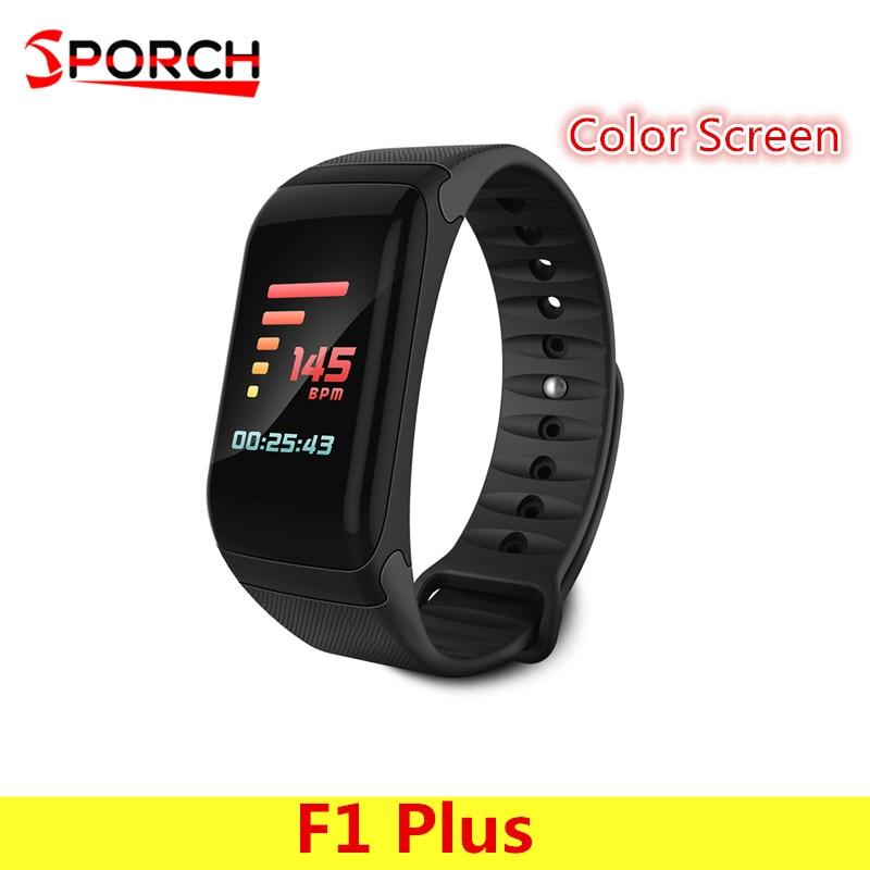 F601 F1 Plus Smart Pulsmesser Bluetooth Smart Armband Blutdruck Messen Armband Dynamische Calorie armband