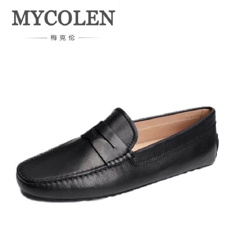 MYCOLEN Man Moccasin Breathable Loafers Designer Soft Leather Shoe Fashion Men Boat Shoes Luxury Brand Men's Loafer zapatos manitobah мокаксины sunshine moccasin женские бежевый