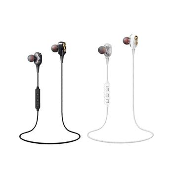 Double Moving Coils Magnetic Bass Quad-core Speakers Mini Stereo Bluetooth Sports Earphones Portable And Comfortable