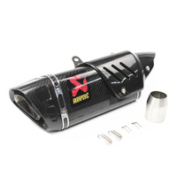 Universal Motorcycle full Carbon Fiber Slip On Akrapovic Exhaust Muffler For YAMAHA R6 R1 Honda kawasaki