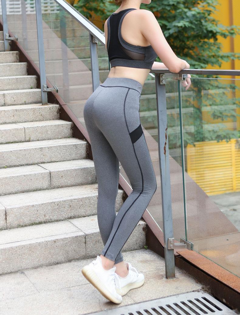 9da46c174e303 Workout Leggings: Mesh Elastic Leggings Slim fit gym leggings: jogging  femme pants. Product Name: Mesh Patchwork Sports Pants