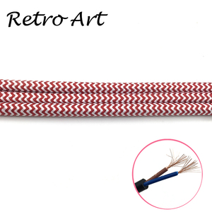 Image 5 - 10 meter vintage Textil Elektrische Draht Kabel Baumwolle retro edison stil Stoff Lampe Schnur