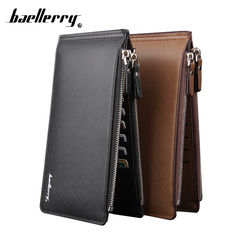 Baellerry Business Card Holder Long Phone Handy Clutch Women Men Wallet Male Female Coin Purse Money Bag Cuzdan Big For Baellery