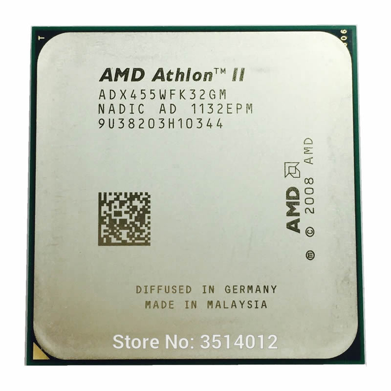 AMD Athlon II X3 455 3.3 GHz 3-Core מעבד ADX455WFK32GM Socke AM3 מעבד title=