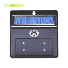 JQWORV 4LED Solar Powered Predator Deterrent Light Patio Garden Outdoor Animal Repeller Cat Dog Fox Pest