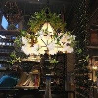 Светодиодный подвесной сад Вавилона лампа для растений горшки в горшке нордическая том необычная люстра лампа освещения художественный по