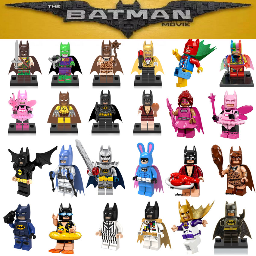 Single sale DC Super Heroes Batman Batgirl Fairy Batman Bathrope legoings Joker Rainbow Building Block Figure Toys Child Gift loz dc comics super heroes mini diamond building block batman