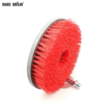 "1 piece 7""*M14 Round Disc Clean Brush for Cleaning Stone Mable Ceramic tile Wooden floor Plastic Thick Carpet Cloth"