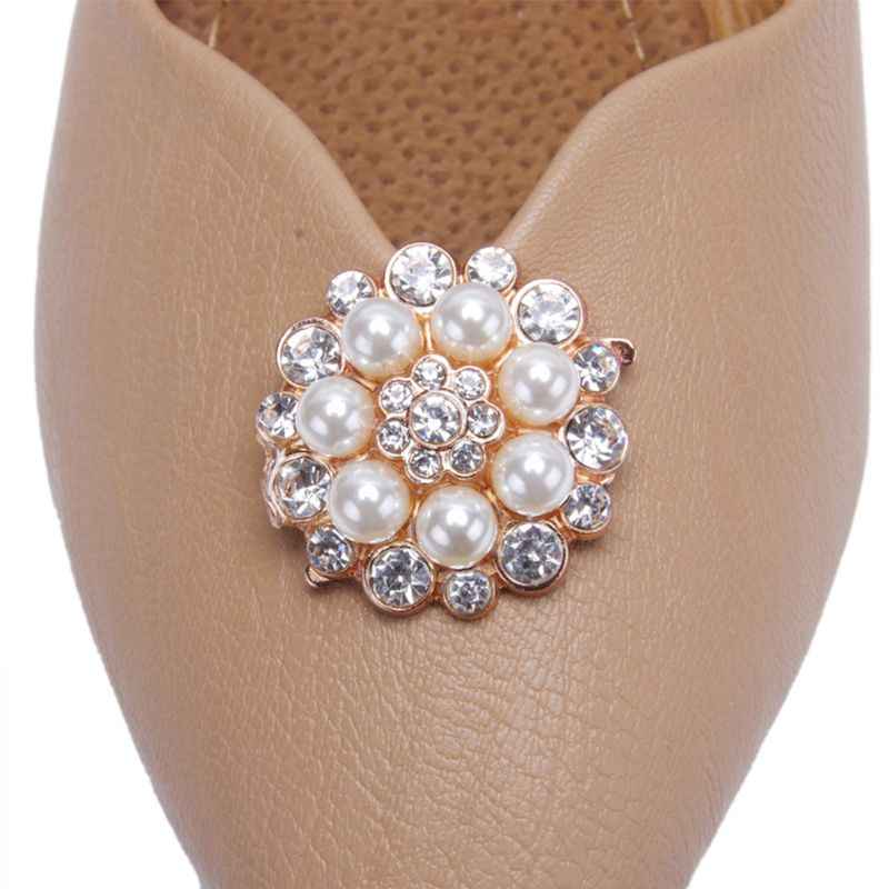 Ayakkabı Klip Kadın Lady Ayakkabı Dekorasyon DIY yüksek topuklu sandalet Charms Lüks Inci Taklidi Moda Benzersiz Çiçek Süs Klipler